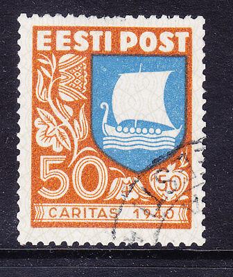 ESTONIA 1940 SG155 Social Relief Fund 50s + 50s top value of set - f/u. Cat £50