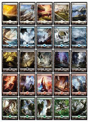 100 ct. NM Battle for Zendikar Full Art Basic Land Set  (4 of Each Art) MTG
