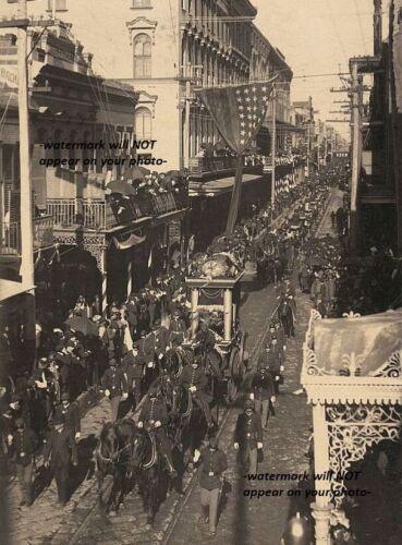 Jefferson Davis Funeral PHOTO 1889 Confederate Civil War President New Orleans
