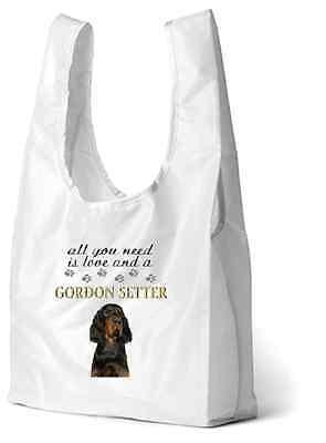 Gordon Setter Dog Printed Design Eco-Friendly Foldable Shopping Bag SBGORDSETT-1