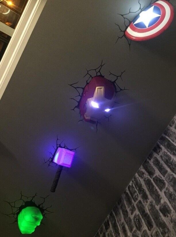 Marvel 3d wall light | in Stockport, Manchester | Gumtree