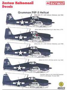 Techmod Decals 1/48 GRUMMAN F6F-3 HELLCAT Fighter