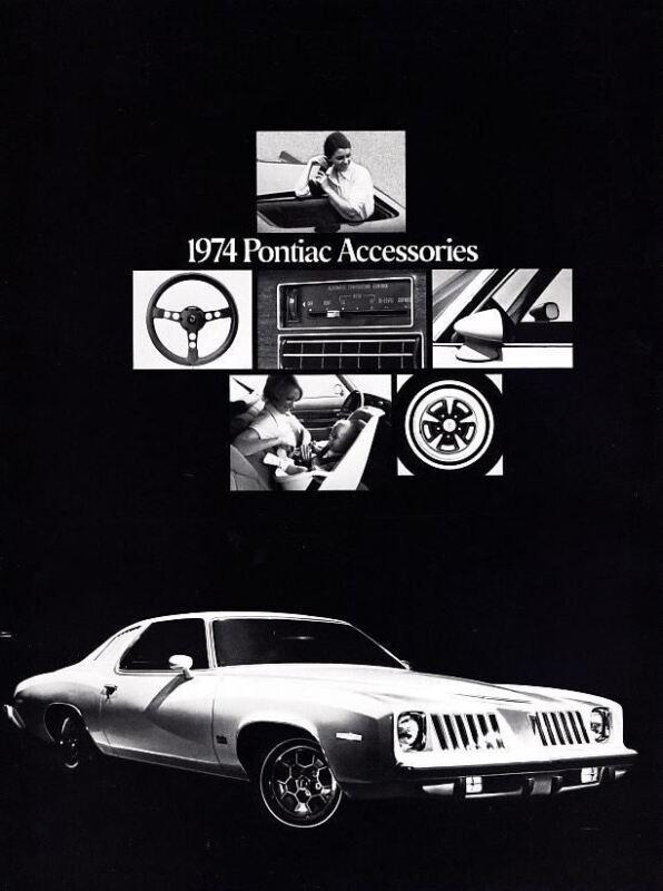 1974 Pontiac Accessories Catalog Firebird Trans Am Catalina