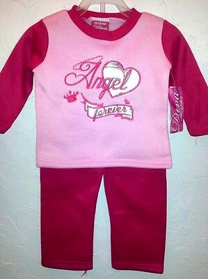 DIVA -Toddler Girl Size 12,18,24 Months PINK/FUCHSIA SHIRT & PANTS OUTFIT - Diva Outfits