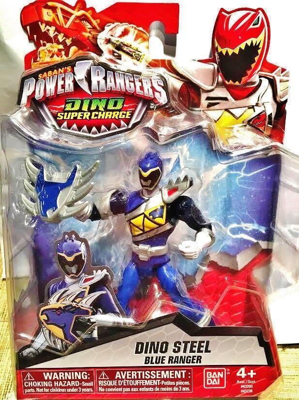 "Power Rangers Dino Super Charge - 5"" Dino Steel Blue Ranger"