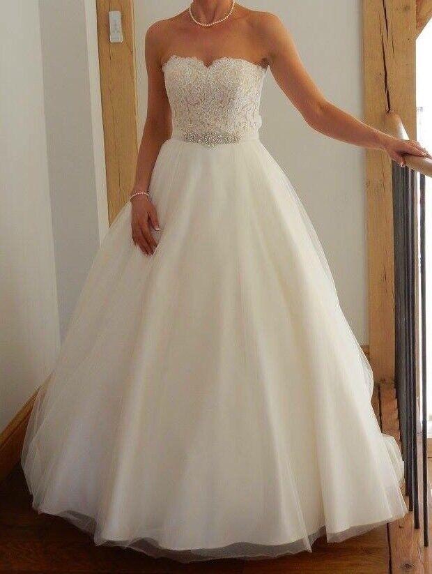 Wed2be Belle princess wedding dress with Nova belt and Jupon ...