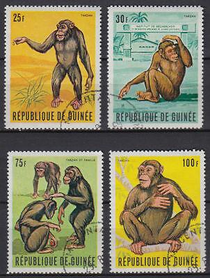 GUINEA GUIN E 1969 USED MI 532 35 TIERE ANIMALS AFFEN APES ST3371