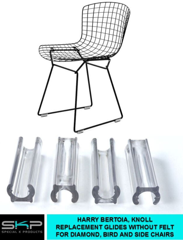 GLIDES FOR HARRY BERTOIA CHAIR DIAMOND, BIRD, SIDE CHAIRS KNOLL, NO FELT, PARTS