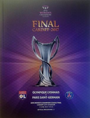 * 2017 WOMENS CHAMPIONS LEAGUE FINAL PROGRAMME - LYON v PARIS ST GERMAIN *