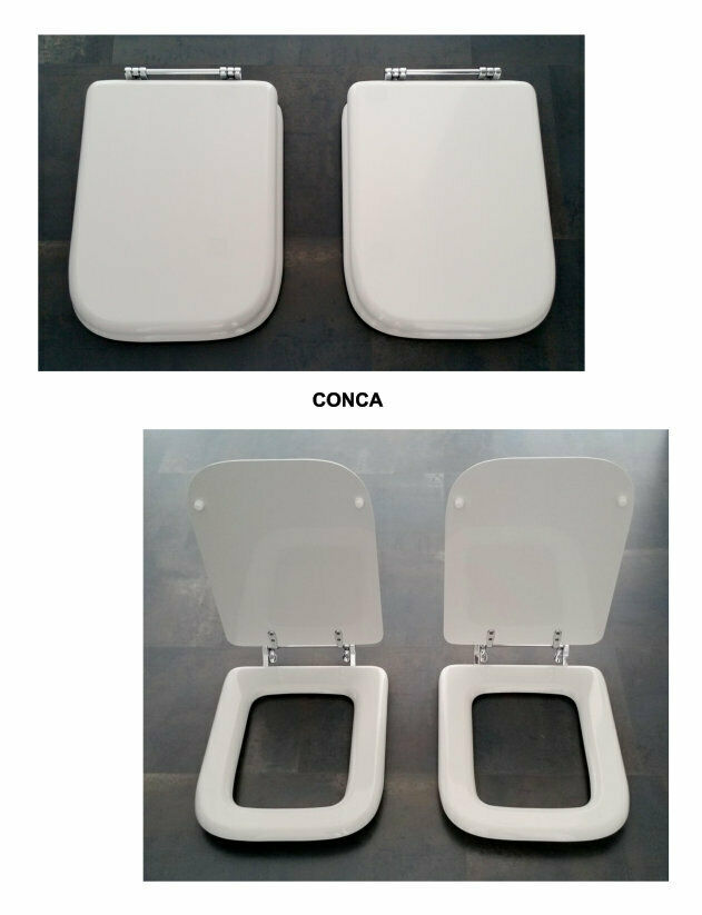 Toilettensitz Deckel Wc Sitz Badezimmer für Gefäß Weiß und Weiß Ideal Standard