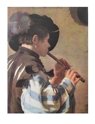 Hendrick Terbrugghen Poster Kunstdruck Bild Flötenbläser I 65x50 cm