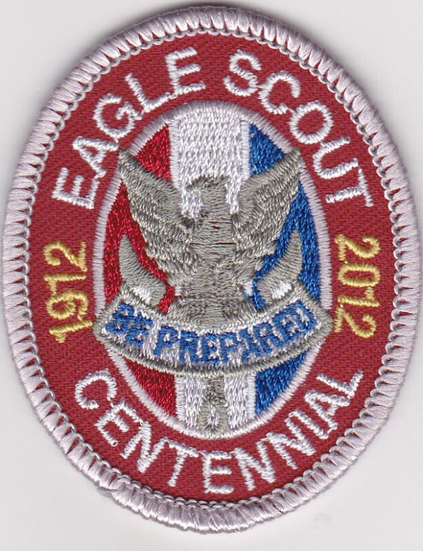 BSA 1912-2012 EAGLE SCOUT CENTENNAL RANK PATCH * ONLY MADE FOR 1 YEAR