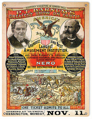 P.T. Barnum's Greatest Show On Earth Circus Magician Sign