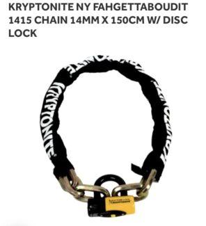 Heavy Duty Disc Lock & Chain | KRYPTONITE