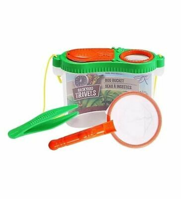 Kids Back Yard Bug Catching Kit Educational Catch & Store W/Tweezers 3 Colors