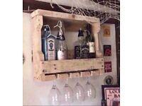 Reclaimed Wood Handmade Wine Rack