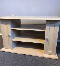 Nice Wooden Tv Table with Shelves and Storage Good Condition Can Deliver Locally for £5