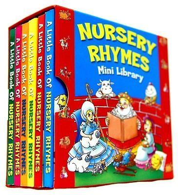 NURSERY RHYMES MINI LIBRARY SET 6 BOARD BOOKS CLASSIC FAVOURITES LEARN 1932NRML