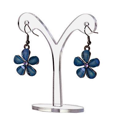 Single Dangle Earring Display Stand Y Shape Clear Acrylic Showcase