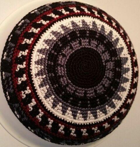 Knitted Yarmulke Shabbat Judaica kippot hat Kippah skull cap Yarmalka Kipa 16 cm