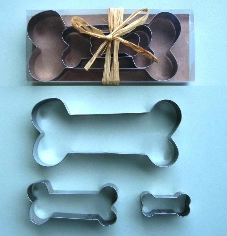 Dog bone biscuit stainless steel cookie cutter 3 pcs/set Special offer 30 days