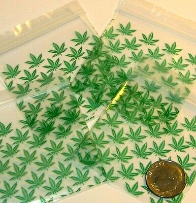 Green Leaves Apple Baggies 2 X 2 Mini Ziplock Bags 100 200 500 1000 Reclosable