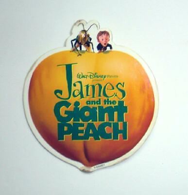 """James and the Giant Peach Pin/Button Disney Promo 3.75"""" VINTAGE! FREE SHIPPING!"""