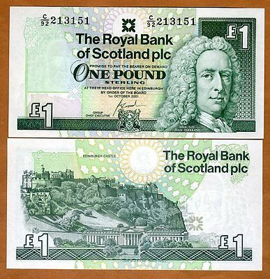 Scotland Royal Bank  1 Pound  2001  P 351  351E   Unc