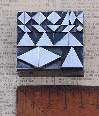 Vignetten Bleisatz Dreiecke Rauten Stempel Ornamente Dreieck letterpress lead