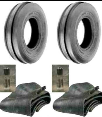 2 New 400x12 400-12 4.00x12 4.00-12 Cub Farmall 3 Rib Tractor Tires With Tubes