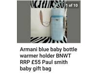Armani baby bottle warmer holder