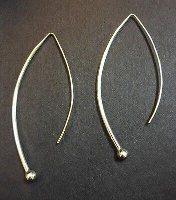 "Silpada Sterling Silver  ""Balancing Act""  Threader Wire Earrings  W1307 EUC"