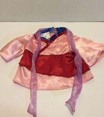 Build A Bear Mulan Disney Princess Dress Outfit Costume