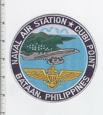 USN CARRIER NAVAL AIR STATION NAS CUBI POINT BATAAN, PHILIPPINES MILITARY PATCH