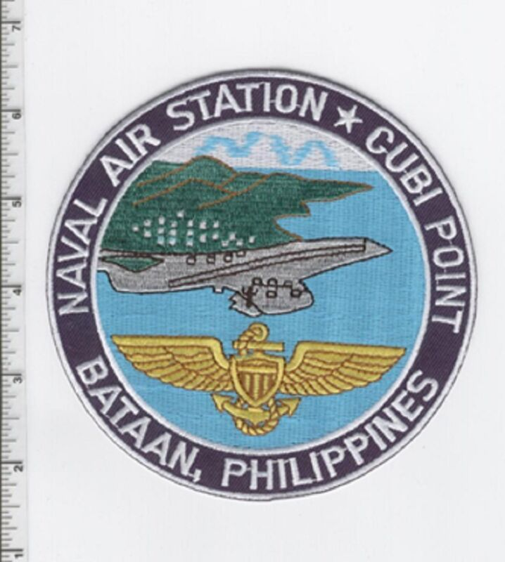 NAS CUBI POINT, PHILIPPINES AVIATION NAVY USMC PATCH 5 INCH PATCH CARRIER