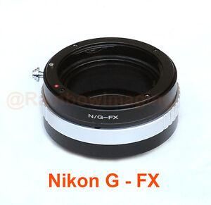 Nikon G AFS lens to Fujifilm X-Pro1 X-E1 X-E2 X-M1 X-T1 Adapter Aperture Control