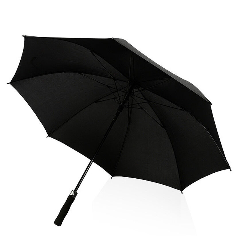 Large Collapsible Golf Umbrella Black Windproof Automatic Op