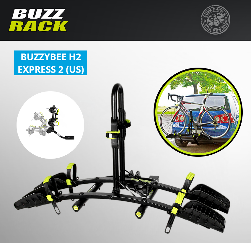 "BUZZ Rack Express 2 Bike Platform TILTING Hitch 1.25"" or 2"" receivers Car SUV's"