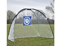 2 in 1 golf practice set - chip n' drive mat + golf practice net (with target)