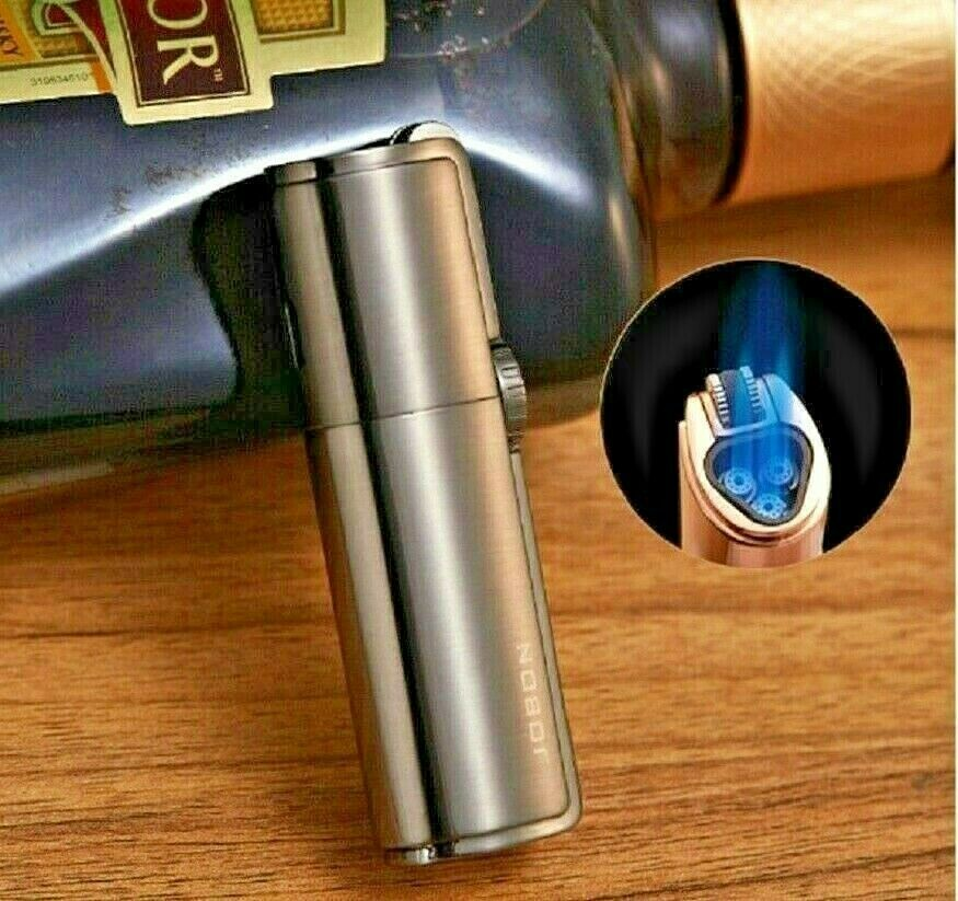 Retro Flint Ignite Triple Torch Windproof Lighter with Cigar