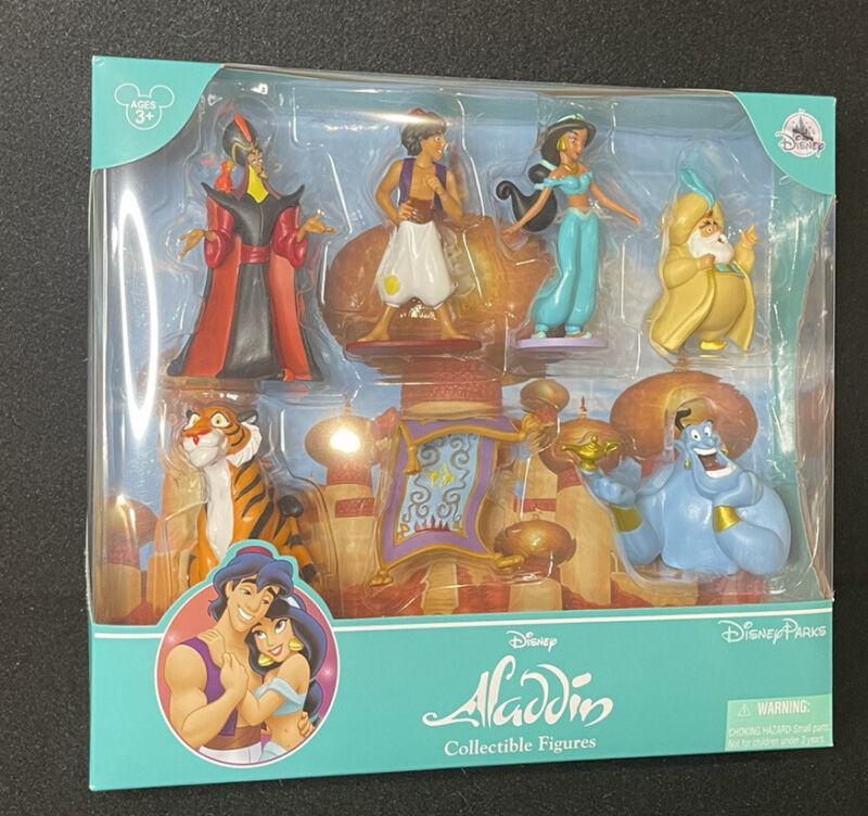 Disney Aladdin Collectible Figurine Play Set Aladdin Jasmine Magic Carpet Jafar