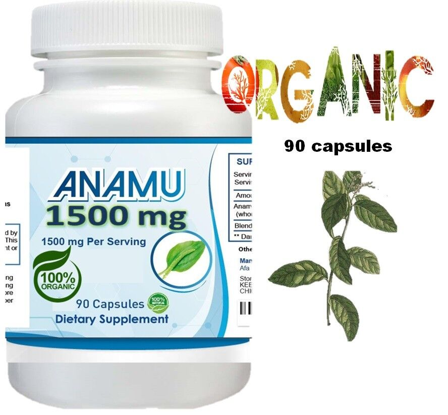 Anamu 100% Organic Petiveria Immune Support detoxification 270 capsule 1500mg 3 2