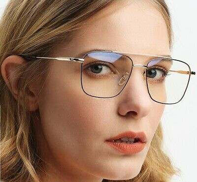 Adult Fashion Metal Square Glasses Frames The Factory Wholesale Double Beam