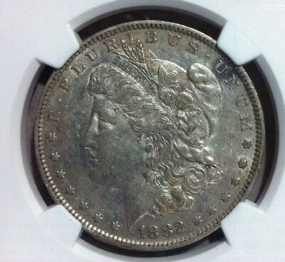 Click now to see the BUY IT NOW Price! 1882 O/S VAM 4 NGC XF45 MORGAN SILVER DOLLAR   GENE HENRY LEGACY COLLECTION
