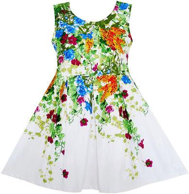 Mädchen Kleid Elegant Prinzessin Blühend Rebe Efeu Blume Blätter Gr. 98-134