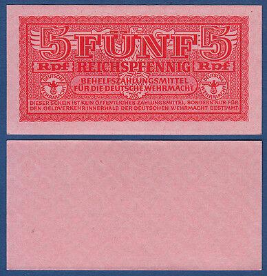 WEHRMACHT 5 Reichspfennig (1942) KASSENFRISCH Ro.502
