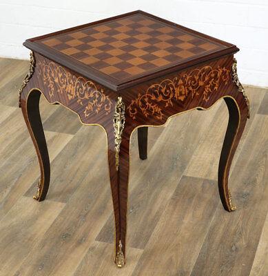 Antiker Schachtisch Reise Spieltisch Schach Spieltisch im Kolonialstil G725