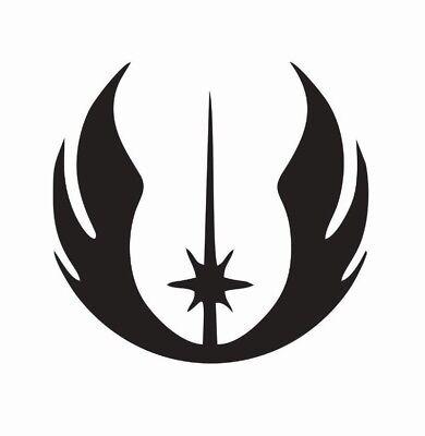 Star Wars Jedi Order Symbol Vinyl Die Cut Car Decal Sticker   Free Shipping