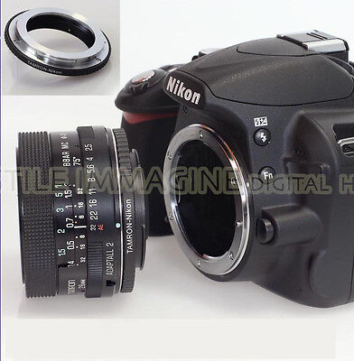 Anillo Adaptador Objetivo Tamron Adaptall 2 Su Corpo Nikon Af Compatible 100%