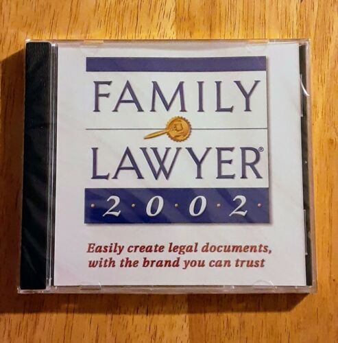 NEW Family Lawyer 2002 Computer Software PC Legal Documents Windows Law CD Rom